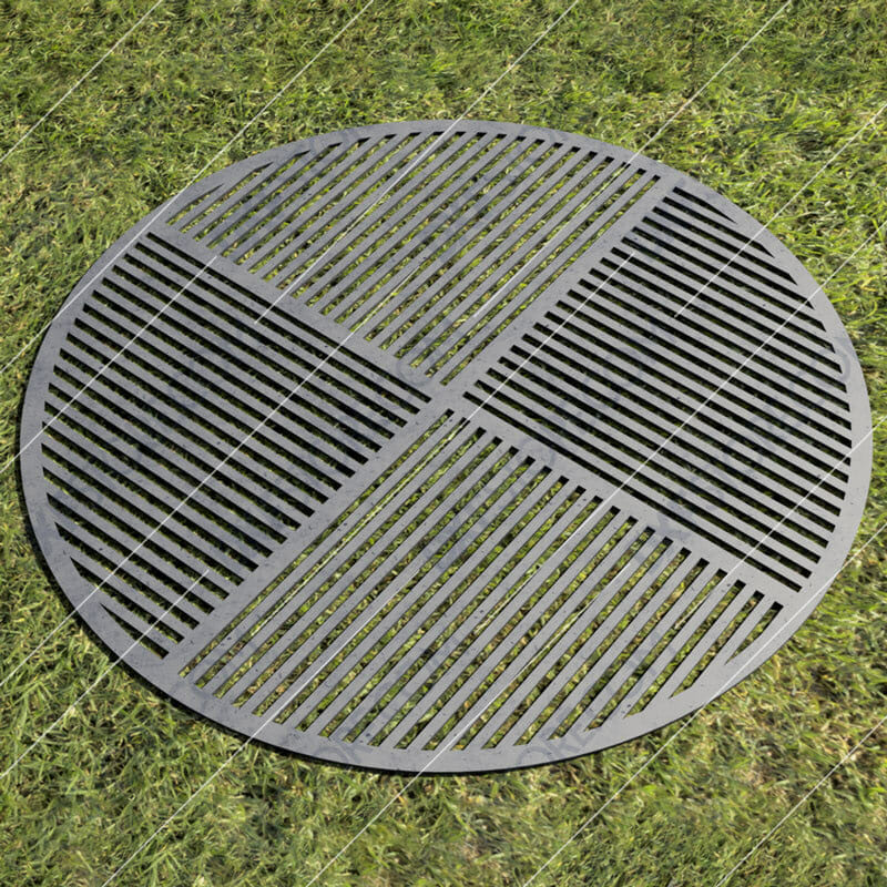 Fire Pit Grate 4 Section Grate 36in Custom Order DXF File Downloadable DXF for CNC Plasma DXF Files Download