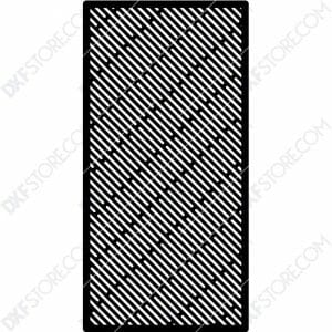 Fire Pit Grate Rectangular horizontal and Slanted Slots Custom Order Cut-Ready Plasma Cut DXF File Download for CNC Plasma and Laser Cut