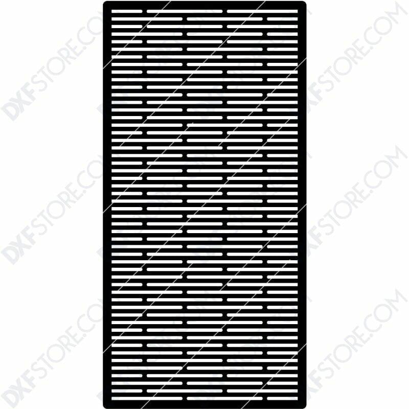 Fire Pit Grate Rectangular horizontal and Slanted Slots Custom Order DXF File Plasma Art for CNC Plasma Cut Cut-Ready DXF File for CNC