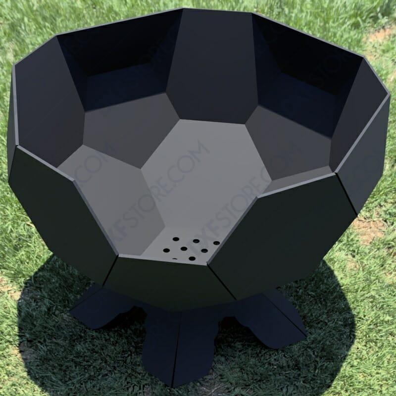 Fire Pit Ball Half Plain Complete Scene DXF File
