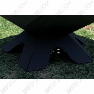 Fire Pit Ball Half Plain Leg DXF File