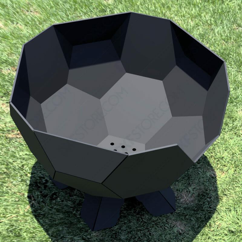 Fire Pit Ball Half Plain Side Scene DXF File