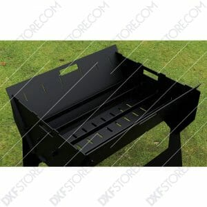 Fire Pit Portable Fire Pit Collapsible No Welding BBQ Outdoor and Camp Cooker DXF File SVG File For CNC