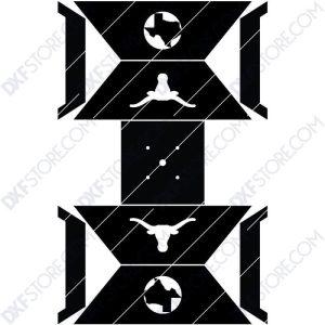 Fire Pit Square Texas Longhorns Cut-Ready CNC Plasma DXF Files