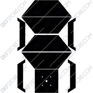 Fire Pit Square Plasma Art for CNC Plasma Cut Cut-Ready DXF File for CNC