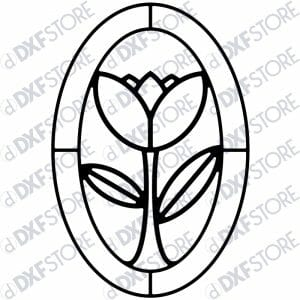 Flower Ornamental Frame Metal Wall Art - Free DXF File
