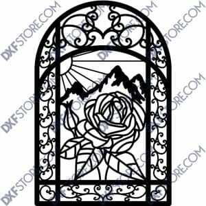 "Flower Ornamental Metal Art Gate 40""x5'"