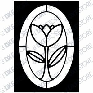 Flower Ornamental Metal Wall Art - Free DXF File
