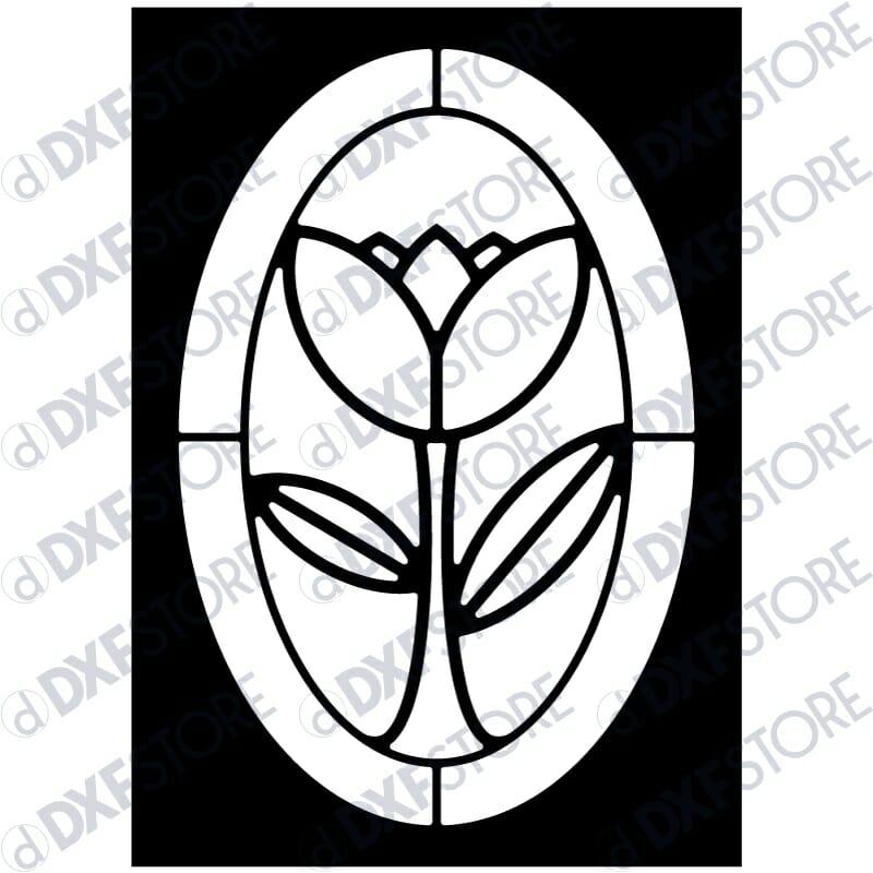 Flower Ornamental Metal Wall Art - Free DXF File
