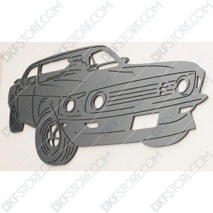 Ford Mustang 1969 Boss 429 John Wick's Car CNC Laser Cut