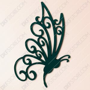 Free DXF File Butterfly Template Plasma Cut-Ready DXF File SVG File for CNC Plasma and Laser Cut