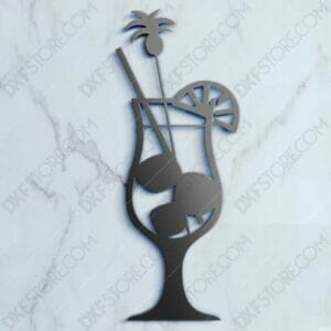 Fruity Cocktail Free DXF File For CNC Plasma Cutter