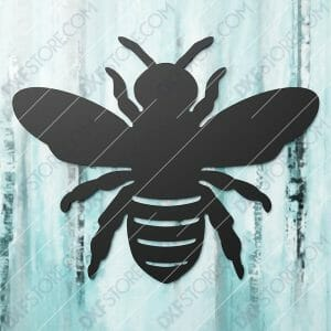 Garden Bumble Bee Metal Sign - Flowers, Spring Honey Bee Yard Decor DXF File SVG File Cut-Ready for CNC Plasma and Laser Cut