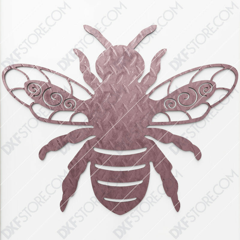 Garden Bumble Bee with Ornamental Wings Metal Sign DXF File SVG File Cut Ready for CNC Plasma and Laser Cut