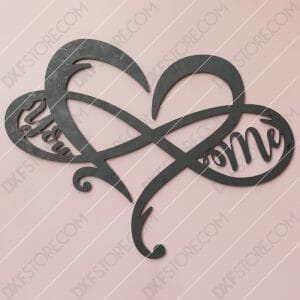 Heart Infinity You & Me Plasma Art CNC Plasma Cut CNC File