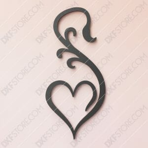 Heart Ornament Free DXF File Cut-Ready DXF File SVG File for CNC Plasma Cut