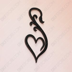 Heart Ornament Free DXF File Cut-Ready DXF File SVG File for CNC Plasma and Laser Cut