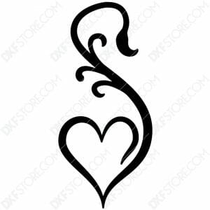 Heart Ornament Free DXF File Cut-Ready DXF File for CNC Plasma Cut
