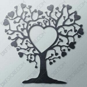 Heart Tree DXF File For CNC Plasma Cutter