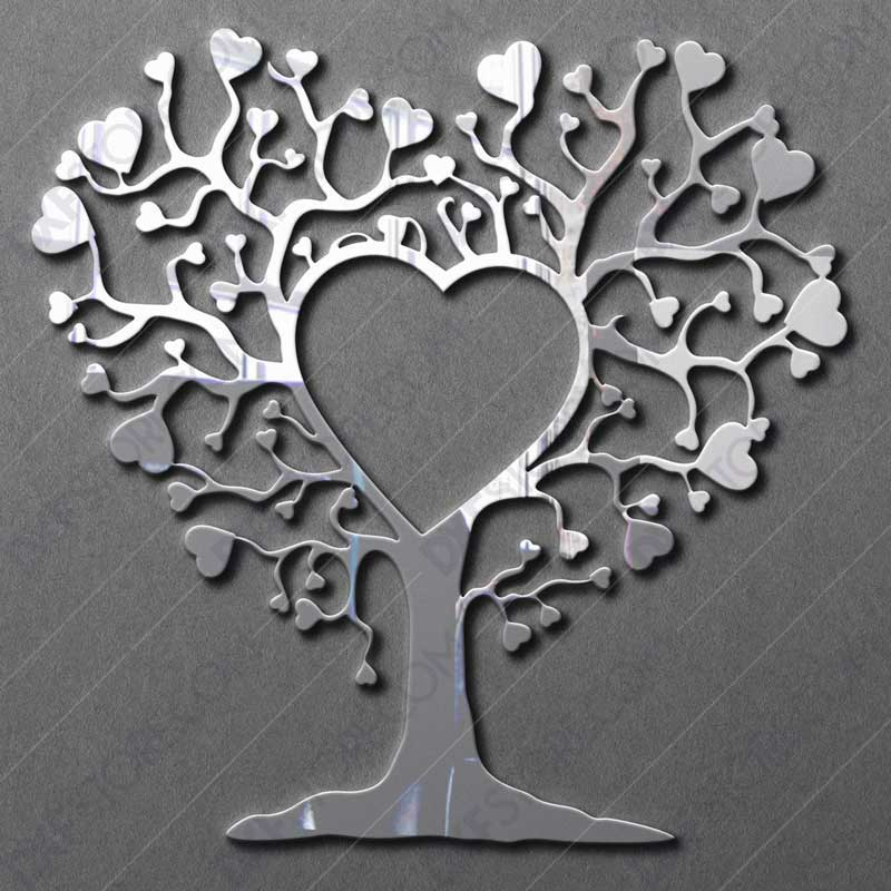 Heart Tree DXF File For Laser Cutter