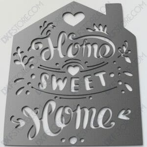 Home Sweet Home Sign tilted