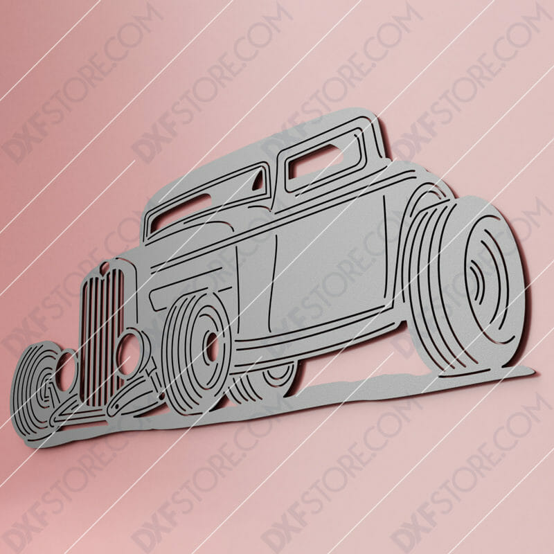 Hot Rod Classic Car 1932 Ford Coupe Cut-Ready DXF File SVG File for CNC Laser Cut