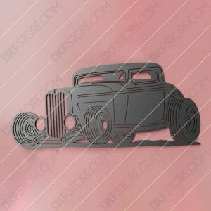 Hot Rod Classic Car 1932 Ford Coupe Cut-Ready DXF File SVG File for CNC Plasma and Laser Cut