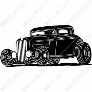 Hot Rod Classic Car 1932 Ford Coupe Cut-Ready DXF File for CNC Laser Cut