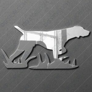 Hunting Dog Free DXF File DXF file for Plasma Cutting