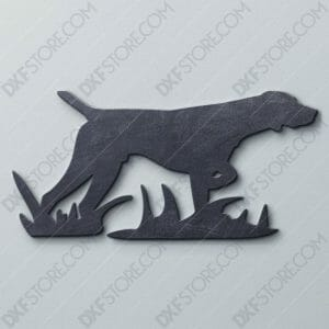 Hunting Dog Free DXF File For CNC Plasma Cutter