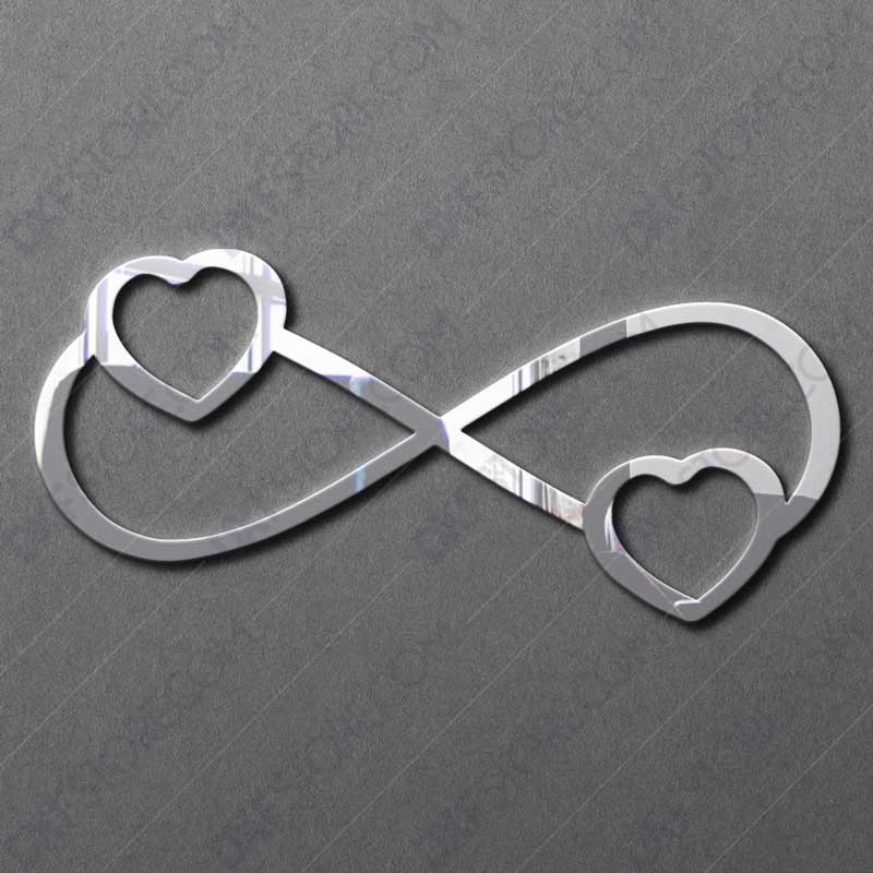 Infinity Symbol With Heart Free DXF File For CNC Plasma Cutter