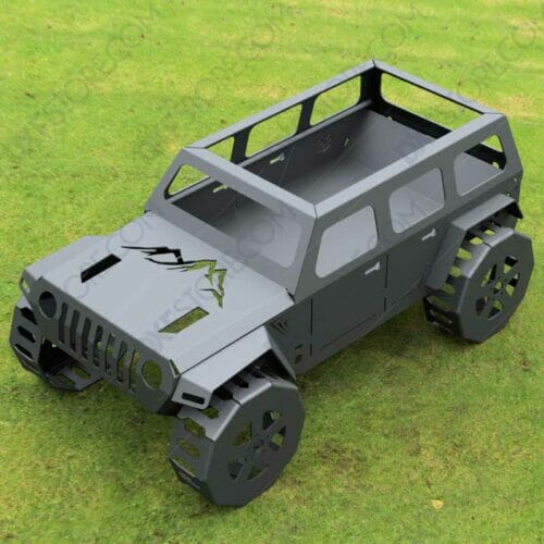 Jeep Fire pit Complete Car Fire pit 50X29X23 in DXF Files For Waterjet
