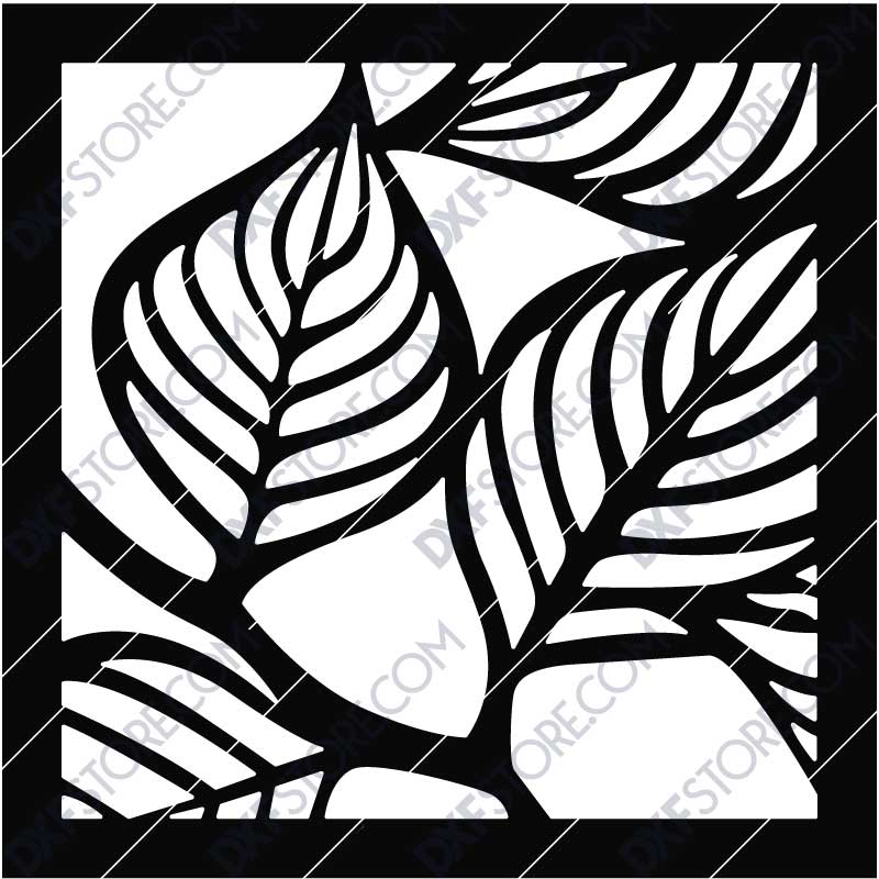 Leafy Panel Box Side Panel DXF File