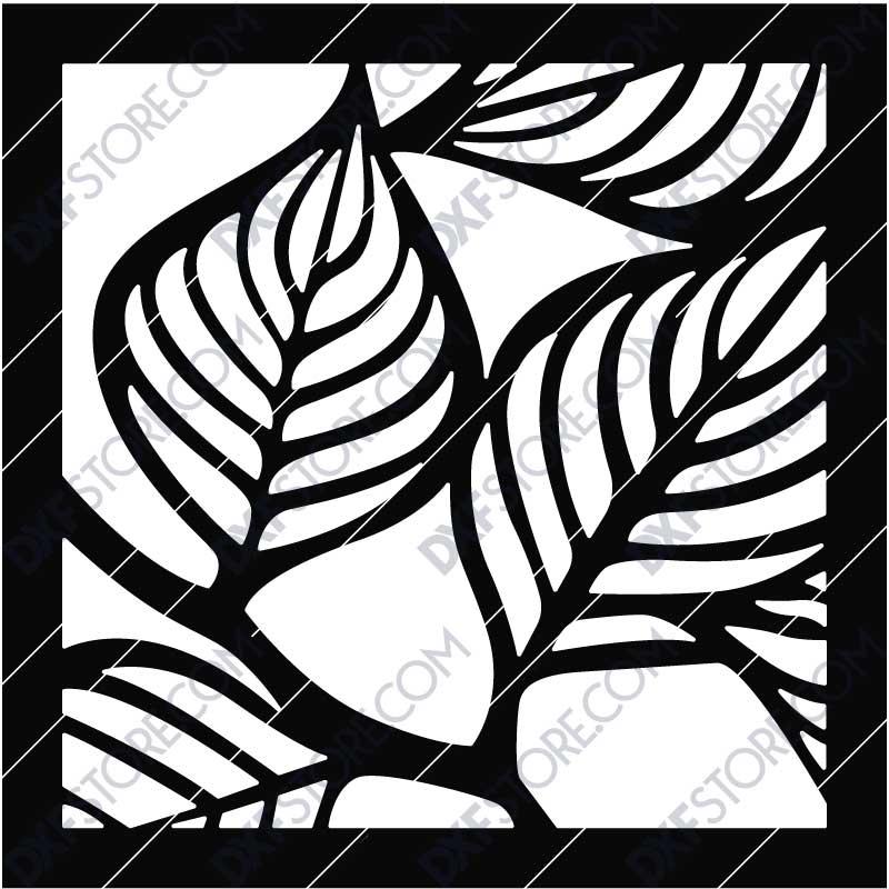 Leafy Panel Box Side Panel DXF File