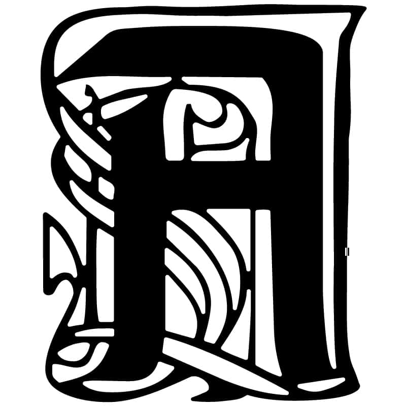 Decorative Letter-A DXF File