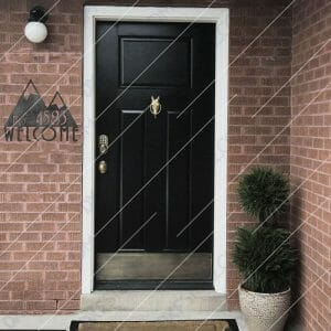 Modern House Sign Plaque Door Street Number Downloadable DXF for CNC Plasma DXF Files Download