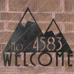 Modern House Sign Plaque Door Street Number Plasma and Laser Cut for CNC Laser and Plasma Cutter
