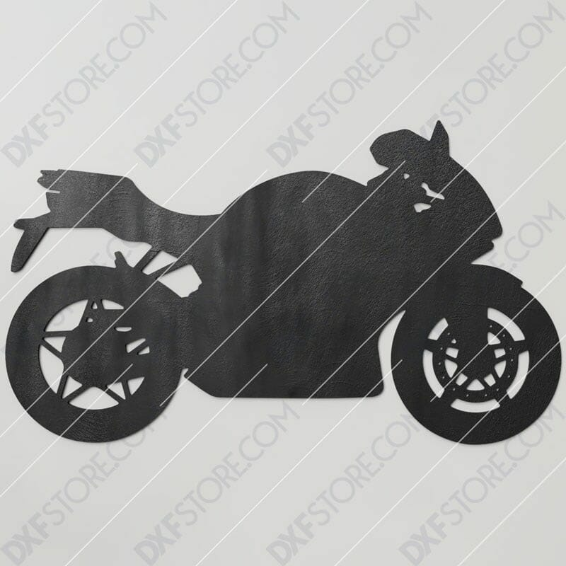 Motorcycle Free DXF File Cut-Ready Plasma Cut DXF File for CNC Plasma and Laser Cut