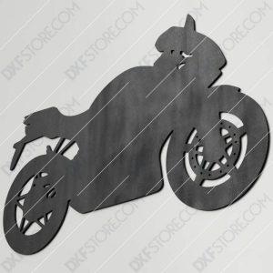 Motorcycle Free DXF File Plasma Art for CNC Plasma Cut Cut-Ready DXF File for CNC