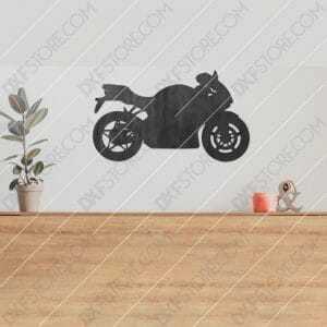 Motorcycle Free DXF File Plasma and Laser Cut for CNC Laser and Plasma Cutter