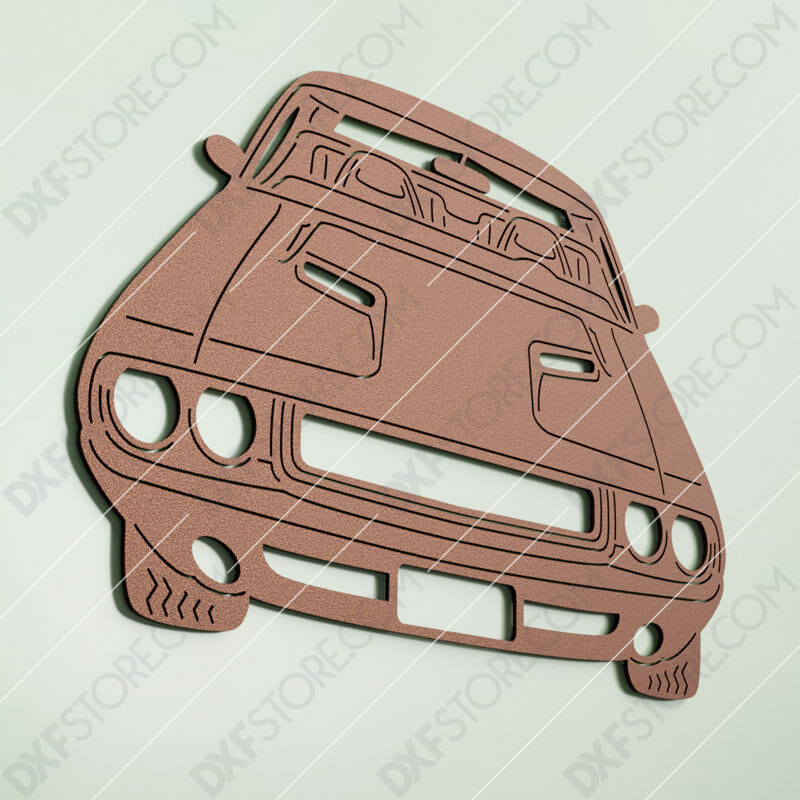 Muscle Car Classic 1970 Dodge Challenger Cut-Ready DXF File SVG File for CNC Laser Cut