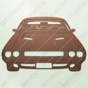 Muscle Car Classic 1970 Dodge Challenger Cut-Ready DXF File SVG File for CNC Plasma and Laser Cut