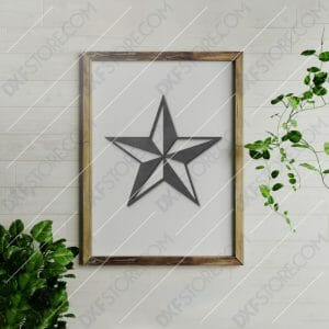 Nautical Star Free DXF File Plasma Cut DXF File Cut-Ready