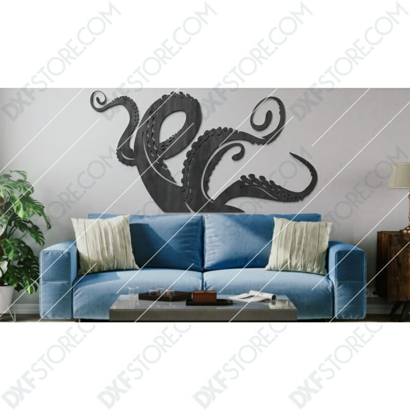 Octopus Legs Plasma Art Plasma Cut DXF File Cut-Ready