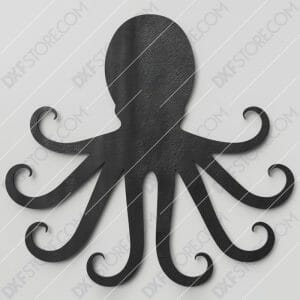 Octopus Plasma Art Free DXF File CNC Cut-Ready DXF File