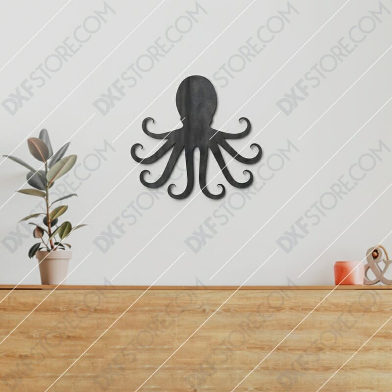Octopus Plasma Art Free DXF File Plasma Cut DXF File Cut-Ready