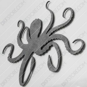 Octopus Plasma Art DXF File for CNC Plasma Cut and Laser Cut and Waterjet