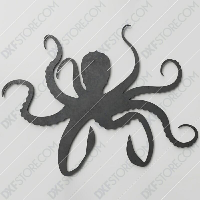 Octopus Plasma Art Plasma and Laser Cut DXF File for CNC Laser and Plasma