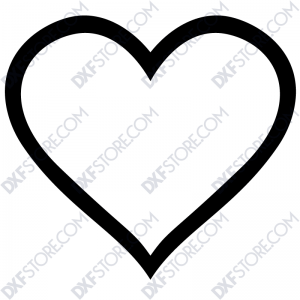 Ornamental Heart Frame Free DXF File