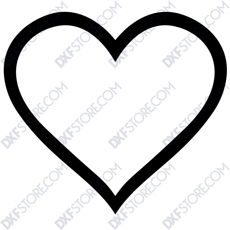 Ornamental Heart Frame Free DXF File
